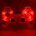Игровой геймпад Nakatomi GP-F20EL Fighter - вибрация,подсветка, 12 кнопок, USB, черно-красный