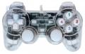 Игровой геймпад CBR CBG 915 USB для PC, проводной, 2 вибро мотора, подсветка, прозрачный