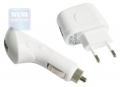 Адаптер питания Gembird MP3A-UC-AC4 USB набор 2 в 1 220В-5В белый