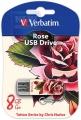 Флеш диск 16Gb Verbatim Mini Tattoo Edition Роза