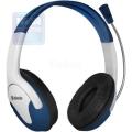 Гарнитура Defender Bravo 116 синий + белый, кабель 1,8 м (63116)