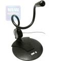Микрофон Dialog M-103B конденсаторный, на гибком основании, черный