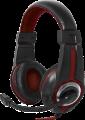 Гарнитура Defender G-185 Warhead черный/красный, кабель 2м (64106)