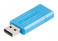 Флеш диск 16Gb Verbatim PinStripe Синий (49068)