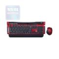 Комплект клавиатура+мышь Dialog KMROK-0517U red USB беспроводной