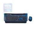 Комплект клавиатура+мышь Dialog KMROK-0517U blue USB беспроводной