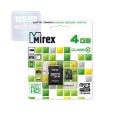 Карта памяти microSDHC 4Gb Mirex Class 10 + SD Adapter (13613-AD10SD04)