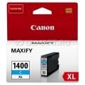 Картридж Canon PGI-1400XL C для MAXIFY МВ2040/MB2140/МВ2340. Голубой. 1020 страниц.