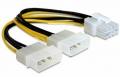 Разветвитель питания Cablexpert, 2хMolex->PCI-Express 8pin, для подключения в/к PCI-Е [CC-PSU-81]