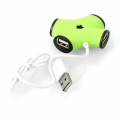 Разветвитель USB 2.0 CBR CH 100 green