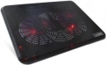 """Подставка для ноутбука Crown CMLC-202T black до 17"""", 2*fan, USB LED подсветка красная"""