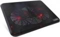 """Подставка для ноутбука Crown CMLC-530T black до 17"""", 2*fan, USB, LED подсветка красная"""