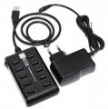 Разветвитель USB 2.0 5bites HB210-205PBK 10*USB2.0 / БП 5В-2А / 1M / BLACK