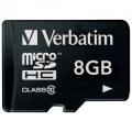 Карта памяти microSDHC 8GB Verbatim Class 10