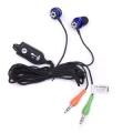 Гарнитура Dialog ES-280MV синяя с регулятором громкости и микрофоном