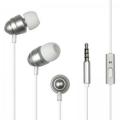 Гарнитура Dialog ES-F55 с кнопкой ответа для мобильных устройств, серебристая, металл