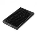 """Внешний корпус 2,5"""" Gembird EE2-U2S-70L черный SATA USB2.0 металл+кожзам"""