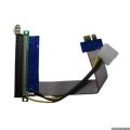 Переходник Espada PCI-E X1 to X16, питание, riser card, (EPCIEX1-16pw) (39930)