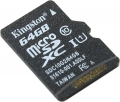 Карта памяти microSDXC 64Gb Kingston Class 10 UNC -1 (SDC10G1/64GB SP)