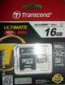 Карта памяти microSDHC 16Gb Transcend Ultimate 600X Class 10 UHS-I Ultimate +SD адаптер (TS16GUSDHC10U1)