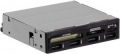 "Карт-ридер внутренний Ginzzu GR-137UB USB 2.0 + 4 USB port 3.5"" Black, OEM"