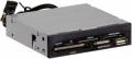 "Карт-ридер внутренний Ginzzu GR-136UB USB 2.0 + USB port 3.5"" Black, OEM"
