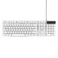Клавиатура Гарнизон GK-200 USB, белый, механизированные клавиши