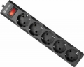 Сетевой фильтр Defender ES largo 1.8 метра 5 розеток чёрный (99497)