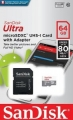 Карта памяти microSDXC 64Gb SanDisk Class 10 Ultra Android (SD адаптер) 80MB/s Tablet Packaging (SDSQUNS-064G-GN6TA)