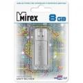 Флеш диск 8Gb Mirex Unit, USB 2.0, Серебро (13600-FMUUSI08)