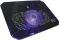 """Подставка для ноутбука Crown CMLC-M10 black до 17"""", 1*fan, USB, LED подсветка синяя"""