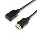 Удлинитель кабеля HDMI 1.8м Cablexpert ,v2.0, 19M/19F, черный, позол. разъемы, экран [CC-HDMI4X-6]