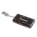 Карт-ридер / Карт-ридер внешний Smartbuy Combo SBRH-750-K USB2.0 black