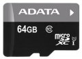Карта памяти microSDXC 64Gb A-Data UHS-1 Cl10 (AUSDX64GUICL10-R)
