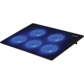 """Подставка для ноутбука Crown CMLC-1105 black 15,6"""", 5 кулеров, подсветка синяя, регулировка скорости вращения"""