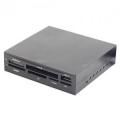 Карт-ридер внутренний Gembird FDI2-ALLIN1-02-B черный, USB2.0+6 разъемов для карт памяти