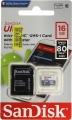 Карта памяти microSDHC 16Gb SanDisk Class 10 Ultra Android (SD адаптер) (SDSQUNS-016G-GN3MA)