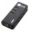 Разветвитель USB 3.0 5bites HB33-304PBK 4*USB2.0 / 3*USB3.0 / BC1.2 / БП 5В-2А / BLACK