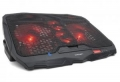 "Подставка для ноутбука Crown CMLS-01 black 17"",кулеры: D125mm*2+ D70mm*2,красная led подсветка, регулятор скорости, 5 уровней наклона"