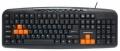 Клавиатура Nakatomi Navigator KN-11U black-orange Multimedia USB
