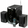 Колонки Dialog Progressive AP-209 black 2.1, 30W+2*15W RMS, Bluetooth, USB+SD reader
