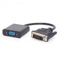 Переходник DVI-D--VGA Cablexpert 29M/15F [A-DVID-VGAF-01]