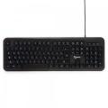 Клавиатура Gembird KB-200L black USB, белая подсветка символов