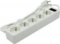 Сетевой фильтр Defender ES 1.8 метра 5 розеток белый (99481)