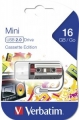 Флеш диск 16Gb Verbatim Mini Casette Edition Black (49397)