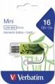 Флеш диск 16Gb Verbatim Mini Elements Edition Earth (49408)