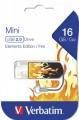 Флеш диск 16Gb Verbatim Mini Elements Edition Fire (49406)