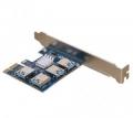 Контроллер Pci-e 1x на 4 USB 3.0 для райзеров (NoName)