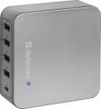 Адаптер питания сетевой Defender UPA-50 4 порта USB + Type C, 5V/8A (83538)