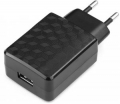 Адаптер питания сетевой Gembird MP3A-PC-06 100/220V - 5V USB 1 порт, 2A, черный
